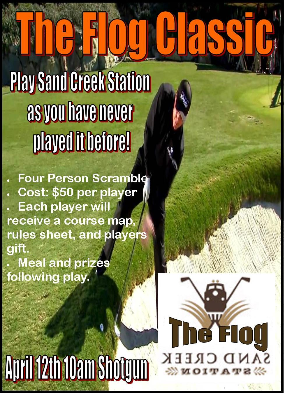 Flog Golf Classic, Backwards golf, The Flog, Sand Creek Station, Wichita, KS, Newton