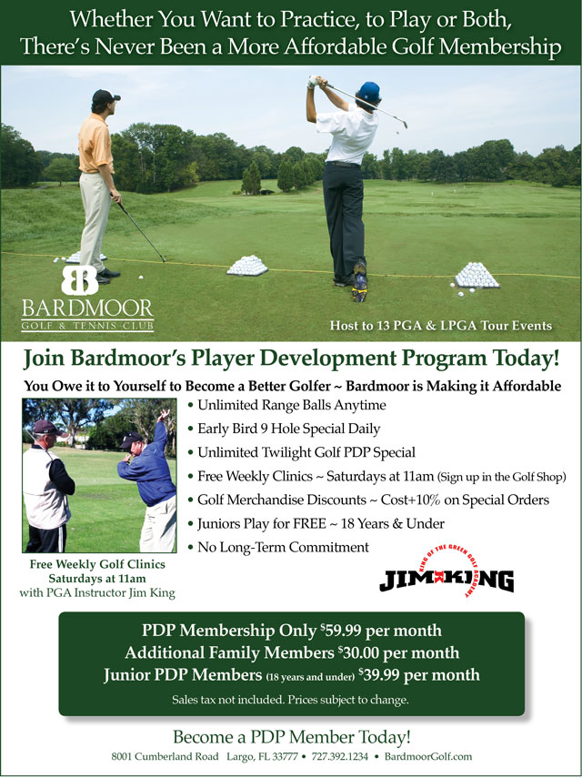 Image Player Development Program Promotional Flyer - To view text version go to http://www.bardmoorgolf.com/-player-development-program-text-only